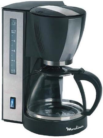 Moulinex FG410E10 - Cafetera filtro, 1000 W, 10 tazas, con placa mantenimiento en caliente, dispositivo antigoteo, color gris aluminio: Amazon.es: Hogar