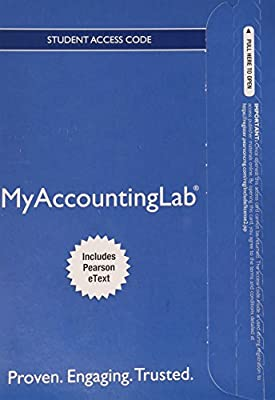 NEW MyAccountingLab with Pearson eText -- Standalone Access Card -- for Horngren's Financial & Managerial Accounting: The Managerial Chapters
