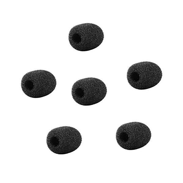6 Packs Foam Windscreen Lapel Clips Boya Microphone
