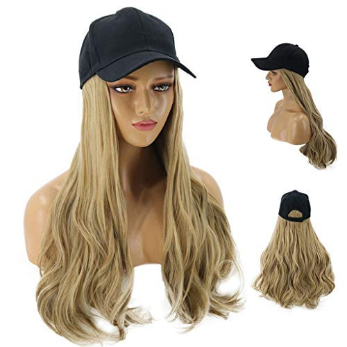 Fine Baseball Cap with Hair Synthetic Hats