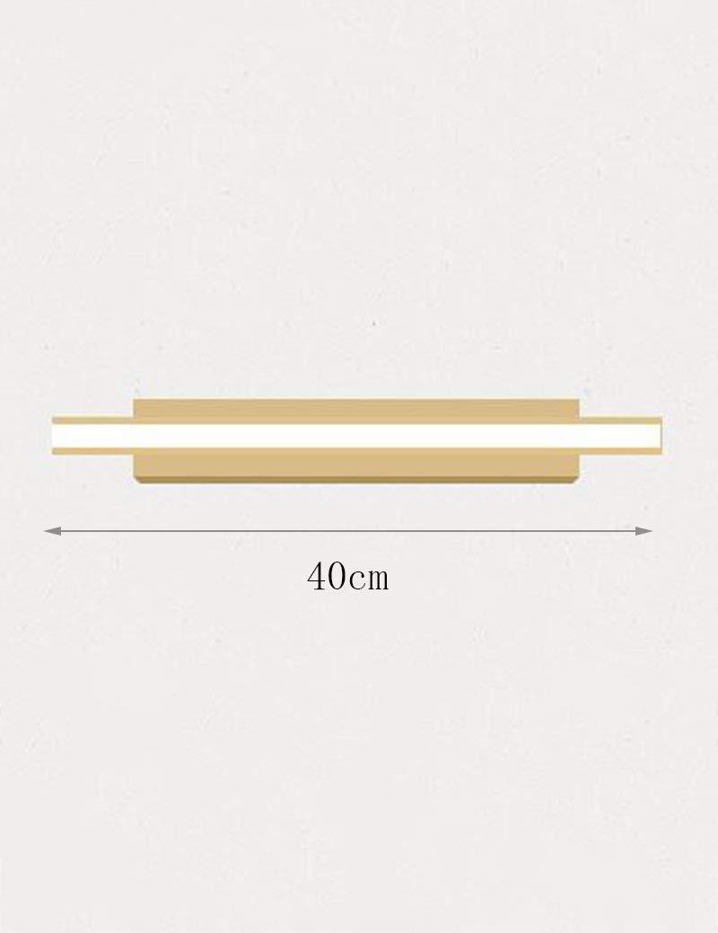 Fenciayao バスミラーランプ - 無垢材防水防曇ミラーフロントライトシンプルモダンバスルームミラーフロントライト - メイクアップミラーヘッドライト (Color : 40cm)  40cm B07RDKQ2FM