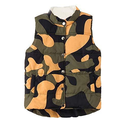 FEITONG Kid Infant Boys Girls Camouflage Jackets Vest Warm Coat Waistcoat(2-3T,Camouflage)