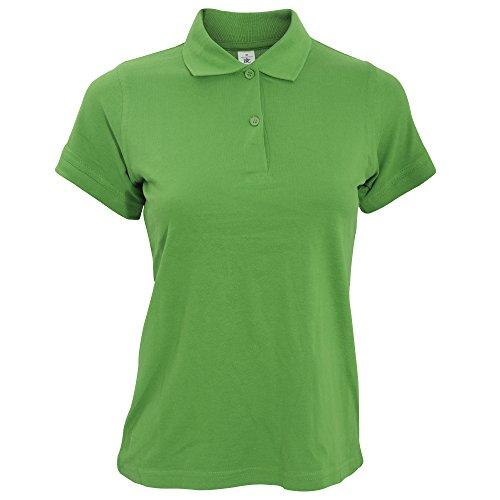 Cotone Manica Verde 100 Corta B Polo Donna amp;C XpwqPE7
