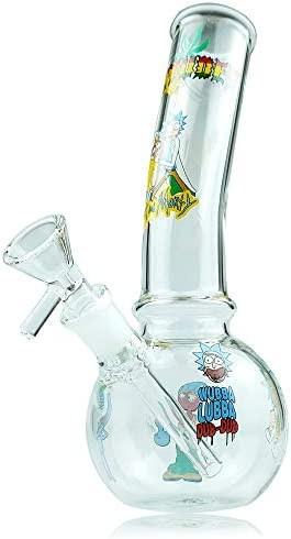 WHTUDEY 8inch Rick Morty Glass Bottle