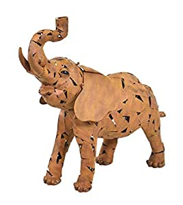 "Hi-Line Gift Ltd Metal Elephant with Trunk Up, 31"", Bronze"