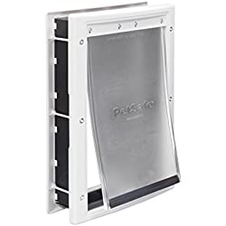 PetSafe Plastic Pet Door Medium, with Soft Tinted Flap, Paintable White Frame, for dogs up to 40 lb.