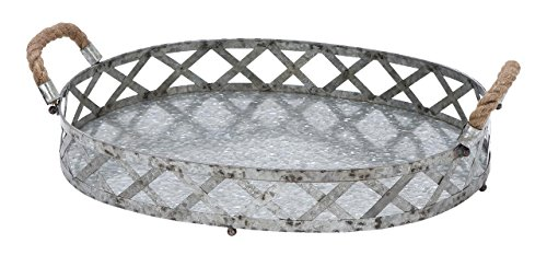Deco 79 Metal Galvanized Tray, 18 by 3-Inch by Deco 79