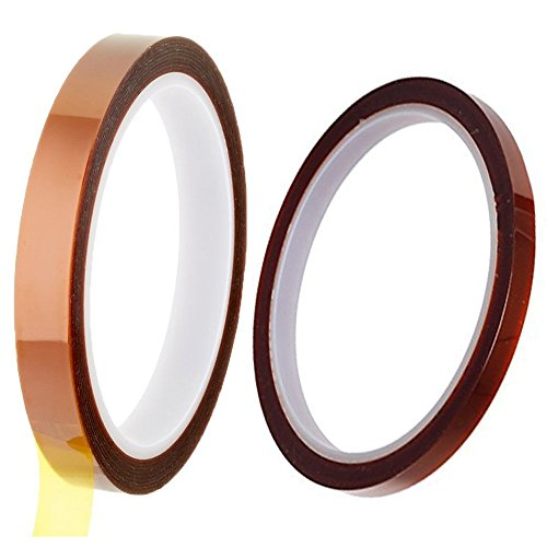 10mm and 5mm) High Temperature Heat Resistant Kapton Tape Polyimide Film Adhesive Tape ()