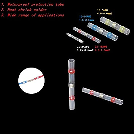 Couleur : SST S11 White, Pins : 5pcs Z-Wenquan-rsg Connecteurs de Fils de Manchon de Soudure thermor/étractables /étanches /à leau