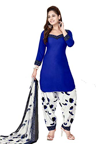 - CRAFTSTRIBE Women Printed Suit Polyester Unstitched Salwar Kameez Dress Material for Party