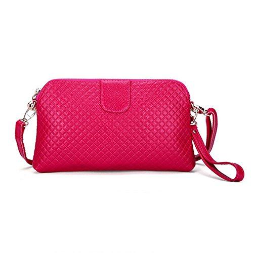 Eysee - Cartera de mano para mujer Rojo marrón 25cm*14.5cm*2cm rosa (b)