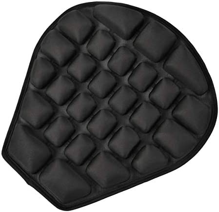 Motor-mh Motorcycle Seat Cushion for Cruiser Touring SaddlesWater Fillable Cooling Down Seat Pad Pressure Relief Ride Motorcycle Air CushionAir Pump 14.9 x 13.9