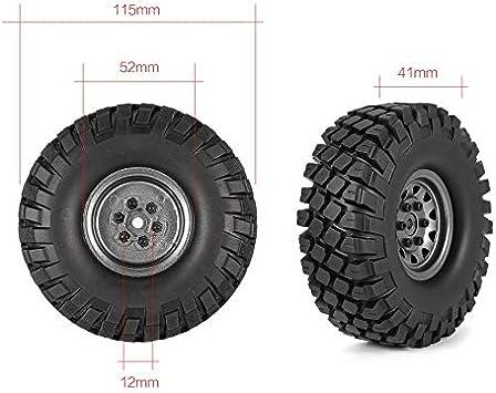 KNOSSOS 4pcs 6020 + 617GL 1.9in Neumáticos de Goma Llanta de ...