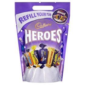 cadbury heroes refill pouch for tub grocery gourmet food. Black Bedroom Furniture Sets. Home Design Ideas
