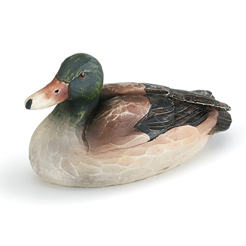 Napco Antique Mallard Duck Hunter And Chestnut 6.5 x 4 Resin Stone Garden Figurine -