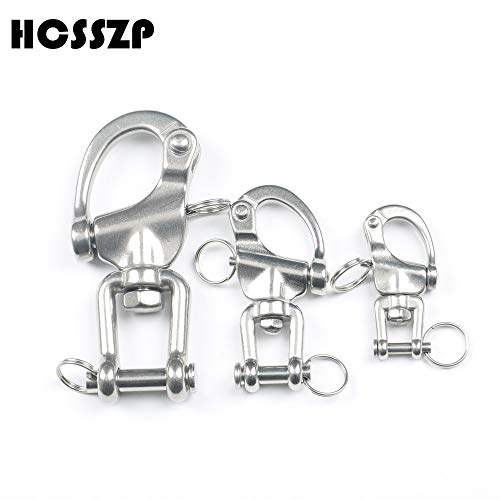 - Ochoos 304 Stainless Steel Jaw Swivel Snap Tack Shackle for Sailboat 70/87/18mm - (Color: 128mm)