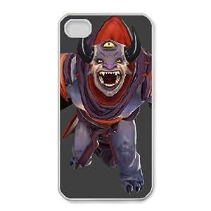 iphone4 4s White phone case Lion Dota 2 DOT5247541
