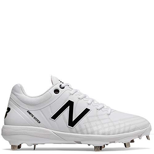 New Balance Women's 4040v5 Metal Baseball Shoe, White, 9 M US