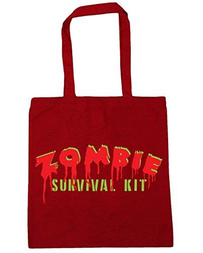 HippoWarehouse Zombie Kit de supervivencia bolsa de la compra bolsa de playa 42cm x38cm, 10litros Classic Red