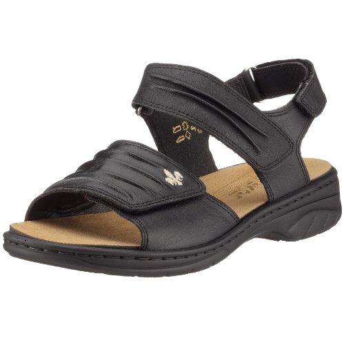 Rieker Annett 64560-01, Damen Sandalen/Fashion-Sandalen, schwarz, (schwarz), EU 39