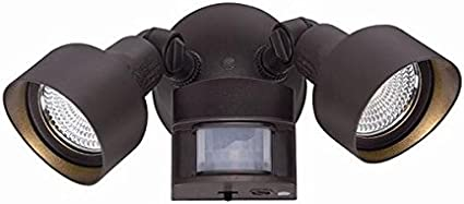 Acclaim FL55ABZ Motion Activated FloodLights Collection 2-Light Outdoor Light Fixture Architectural Bronze