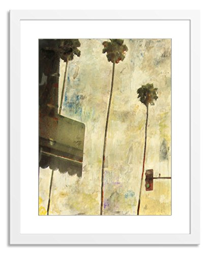 Gallery Direct Riviera Drive I Artwork on Paper, Wood by Sara Abbott with White, Clean and Simple Frame, 36