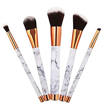 94d33a4f9bfb Amazon.com: Kaputar Pro Marble Pattern Makeup Brushes Set Foundation ...