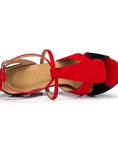 Latine Red Bobine Flocage Non de ShangYi Chaussures danse Autre Personnalisables Talon vBw7zq