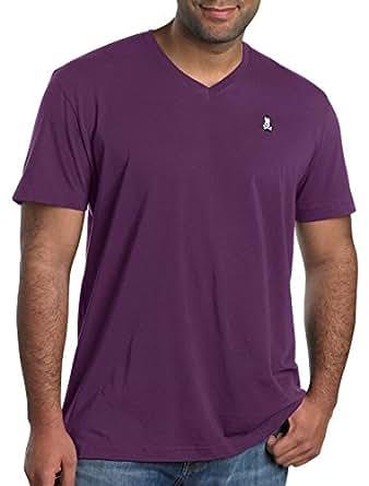 Psycho bunny big tall v neck logo t shirt 1xtall for Big and tall purple dress shirts