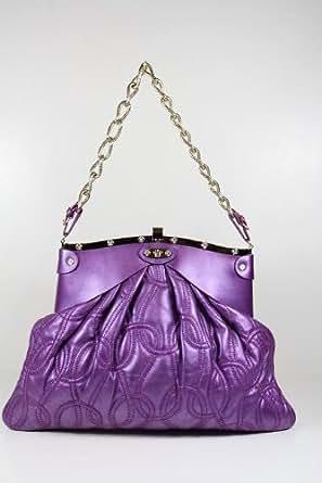 Versace Handbags Versace Purple Leather DBFB747 - CLEARANCE