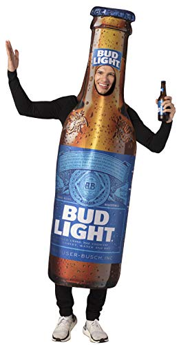 Group Halloween Costume College (Bud Light Beer Bottle Costume Unisex Design fits Men Women 21+ of)