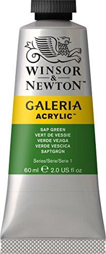 Winsor Newton Galeria Acrylic Paint, 60ml tube, Sap (Tube Sap Green)
