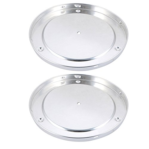 uxcell 2pcs 280mm Dia DIY Ceiling Lamp Disc Accessories Chandelier Ceiling Plate Silver ()