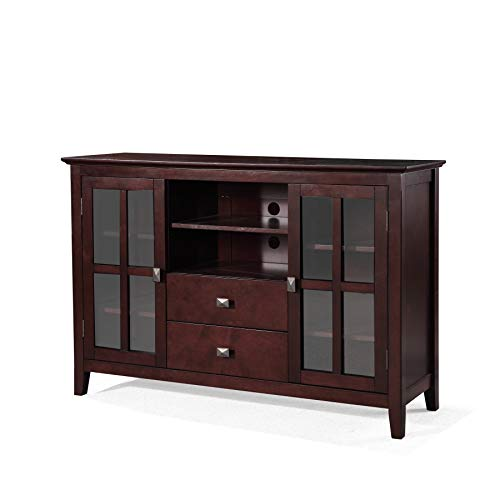 Phoenix Home Wood TV Media Stand, Medium Auburn Brown