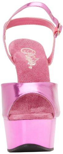 Pleaser Women's Delight-609/FSM/M Platform Sandal Fuchsia Metallic/Fuchsia n7WlFIjiS