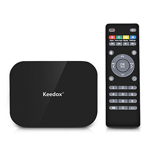 Keedox® Android 4.4 A400 Amlogic S802 Quad-Core Cortex-A9r4 2.0GHz 16GB 4K Smart TV Box Streaming Player with Remote Control