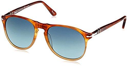 Persol Men's PO9649S Sunglasses Resina E Sale / Gradient Blu Polar 55mm & Cleaning Kit - Sale Persol Sunglasses