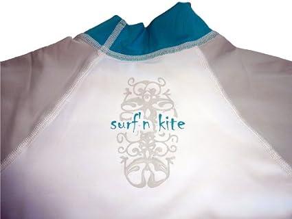 Katie surf/´n kite Rashguard Spandex UV-Maglia Donna Manica Corta UPF 50 Protezione Solare