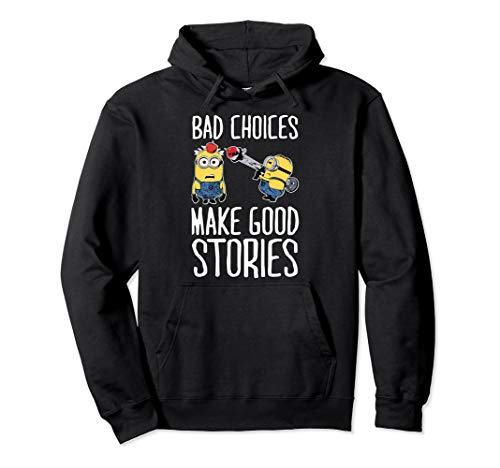 Minion Hoodie For Adults (Despicable Me Minions Bad Choices Make Good Stories Pullover)