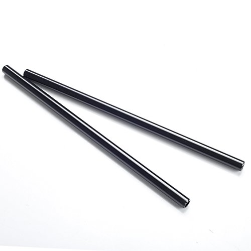 Movo Photo PT24 Set of Two Aluminum 15mm Rods for DSLR Camera Rail System (24'') by Movo