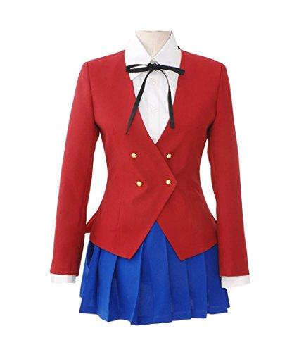 Ice Dream Womens Red Jacket Blue Skirt Uniform Cosplay Costume (Woman-S) (Toradora Taiga Cosplay Costume)