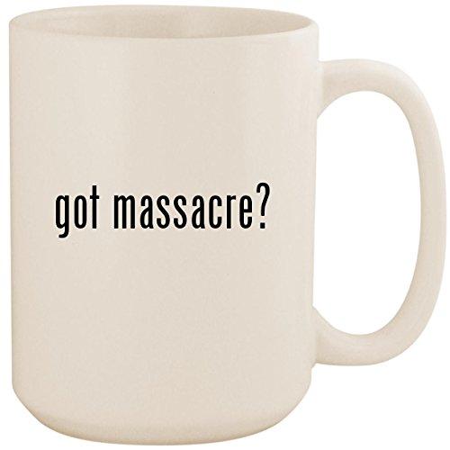 got massacre? - White 15oz Ceramic Coffee Mug - Dvd Shore Jersey Massacre