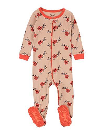 Leveret Kids Pajamas Baby Boys Girls Footed Pajamas Sleeper 100% Cotton (Horse Carriage, Size 3 Toddler)