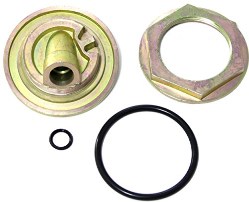 3L Diesel Engine Oil Dipstick Flange Inner & Outer Adapter Nut & O-ring Gasket Seal Kit (Mounts On Side Of Engine Oil Pan; Replaces F4TZ6751A, F4TZ6753A, F4TZ6751B) (Replace Engine Oil)