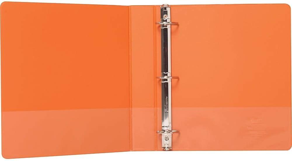 Staples 82648 Standard 1 1//2-Inch 3-Ring View Binder Orange 26442-Cc