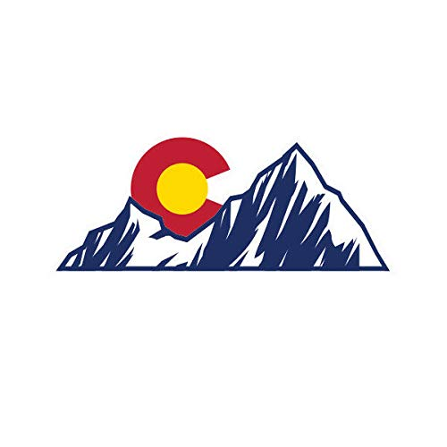 Colorado Mountain Sun Sticker Die Cut Decal CO Mountains Denver Boulder Native Vinyl Decal Sticker Car Waterproof Car Decal Bumper Sticker 5