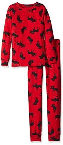 Little Blue House by Hatley Big Boys' Polo Pajama Set,
