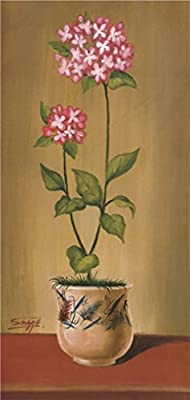High Quality Polyster Canvas ,the Reproductions Art Decorative Canvas Prints Of Oil Painting 'Flowers', 8x17 Inch / 20x43 Cm Is Best For Bathroom Decoration And Home Decoration And Gifts