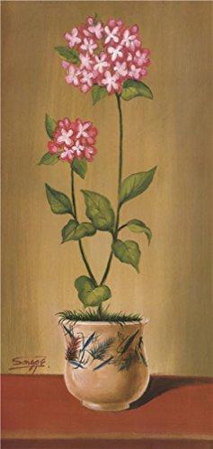 花`油絵、10x 21インチ/ 25x 54cm、の印刷ポリエステルキャンバス、このが安いアート装飾アート装飾プリントキャンバスは、Perfectly Suitalbe Forスタディ装飾とホームデコレーションとギフトの商品画像
