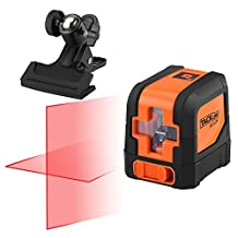 Tacklife SC-L01 Classic 50 Feet Self Leveling Cross Line Laser with Adjustable Mounting Clamp and Projecting Self Leveling Red Horizontal and Vertical Line